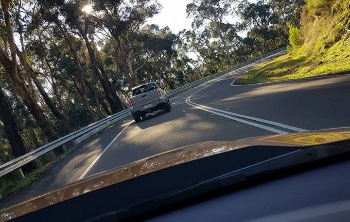 The same Ford Ranger Raptor, this spotted in the hilly, twisty roads of the Dandenong region.