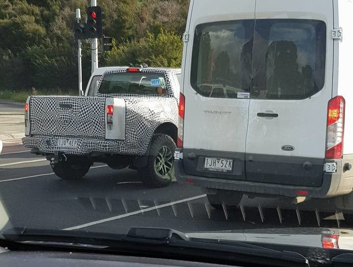 The new Ford Ranger Raptor, spied testing in Melbourne.