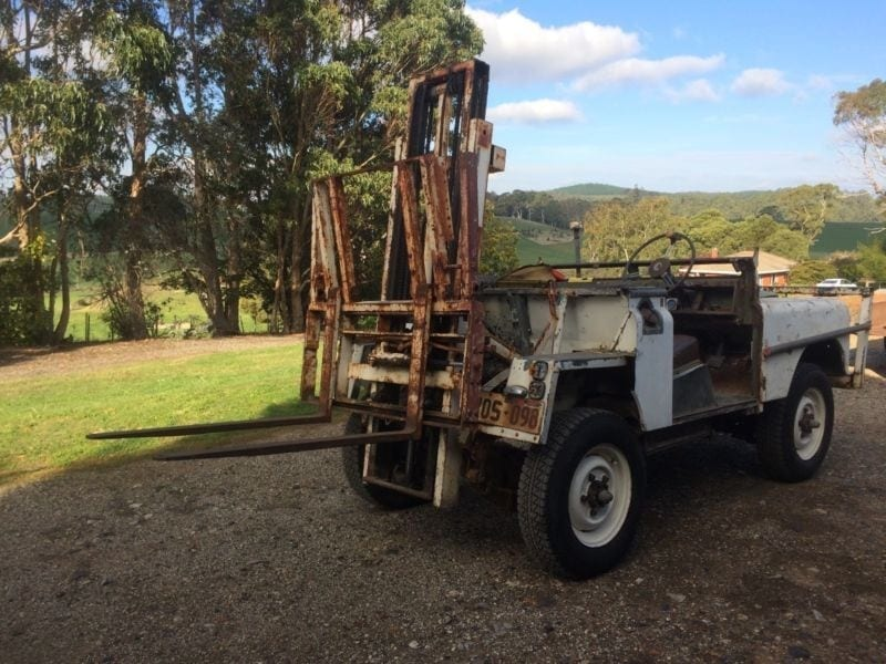 This Land Rover Forklift is what (strange) dreams are made of.