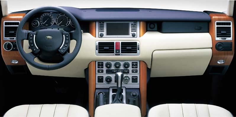 New 2003 Land Rover Range Rover interior.