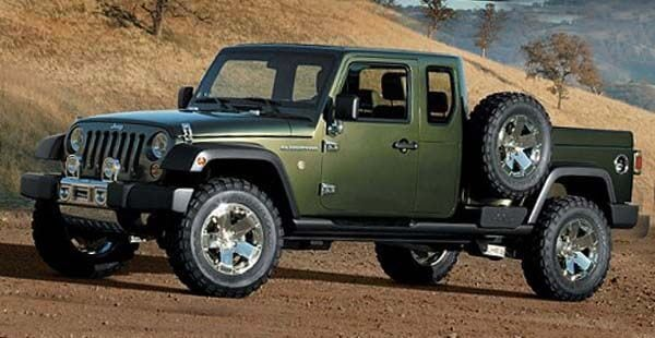 This is Jeep's gladiator concept, which came out before the JK was available.