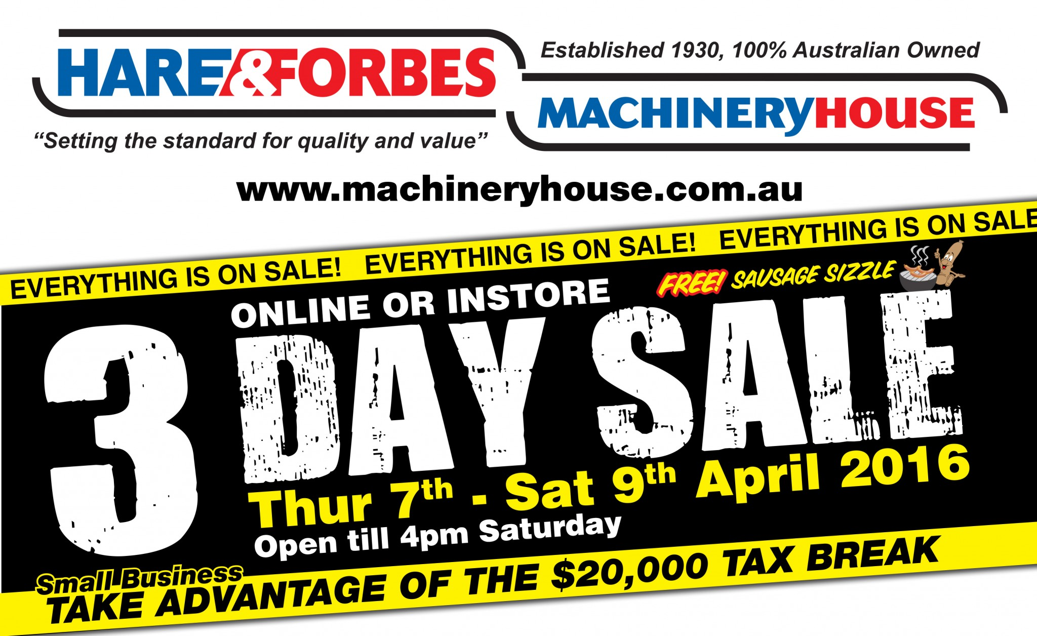 HARE & FORBES MACHINERYHOUSE 3-DAY SALE