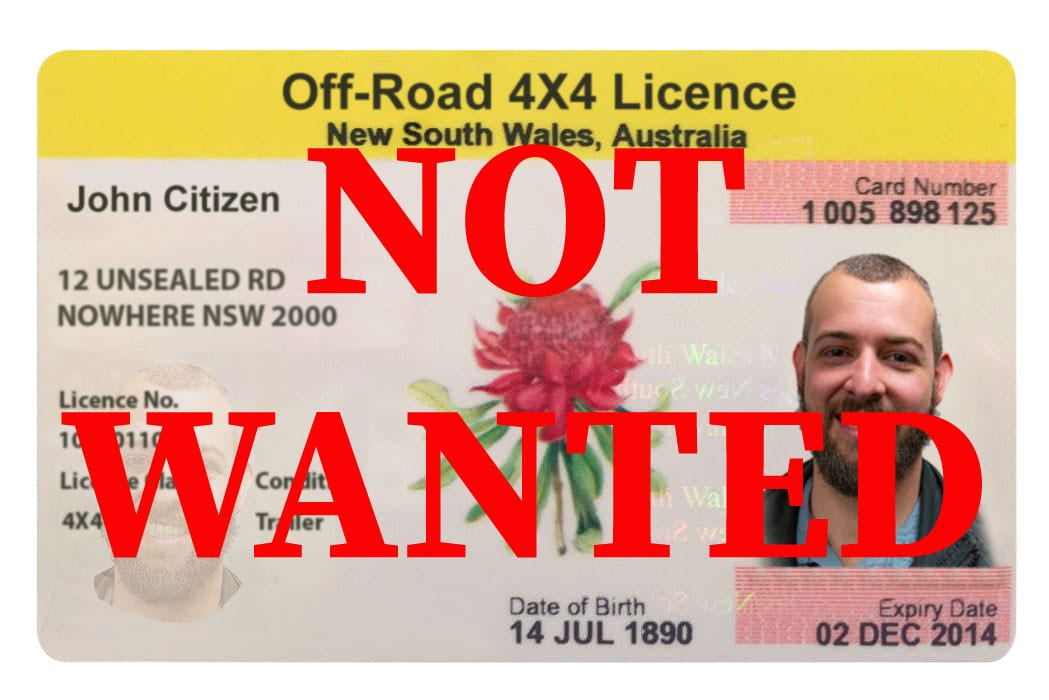 4X4/Off-Road Licence: Your Reply