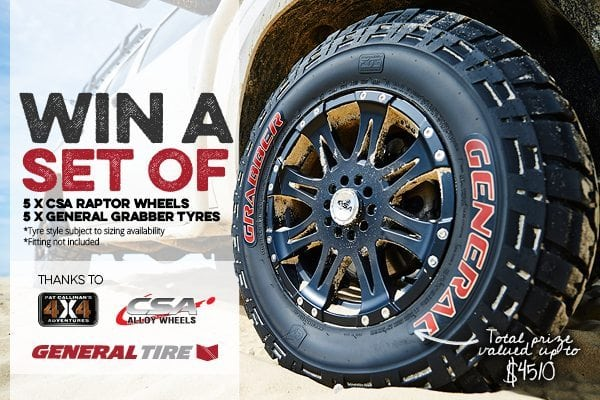 Win yourself some new 4X4 wheels and tyres