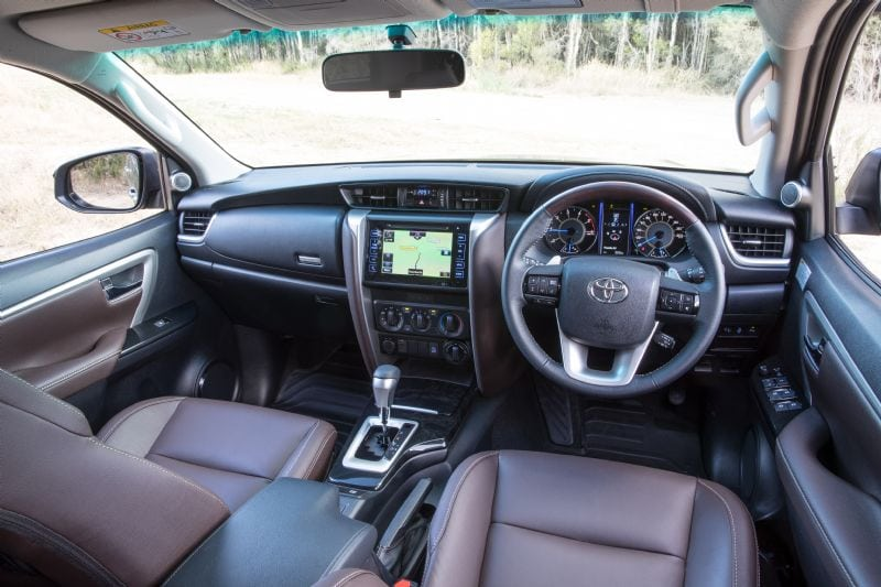 This is a 2018 Toyota Fortuner GXL interior, with the premium option ticked.
