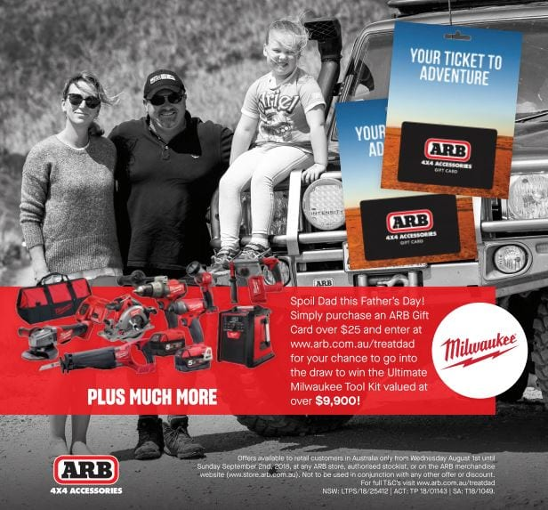 Grab dad an ARB gift card and win!