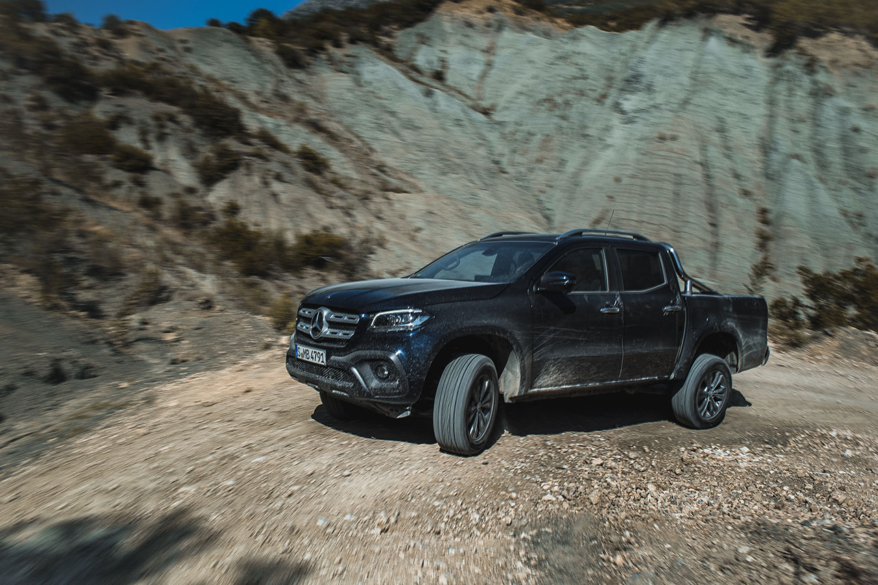 Driving an X-Class in Albania