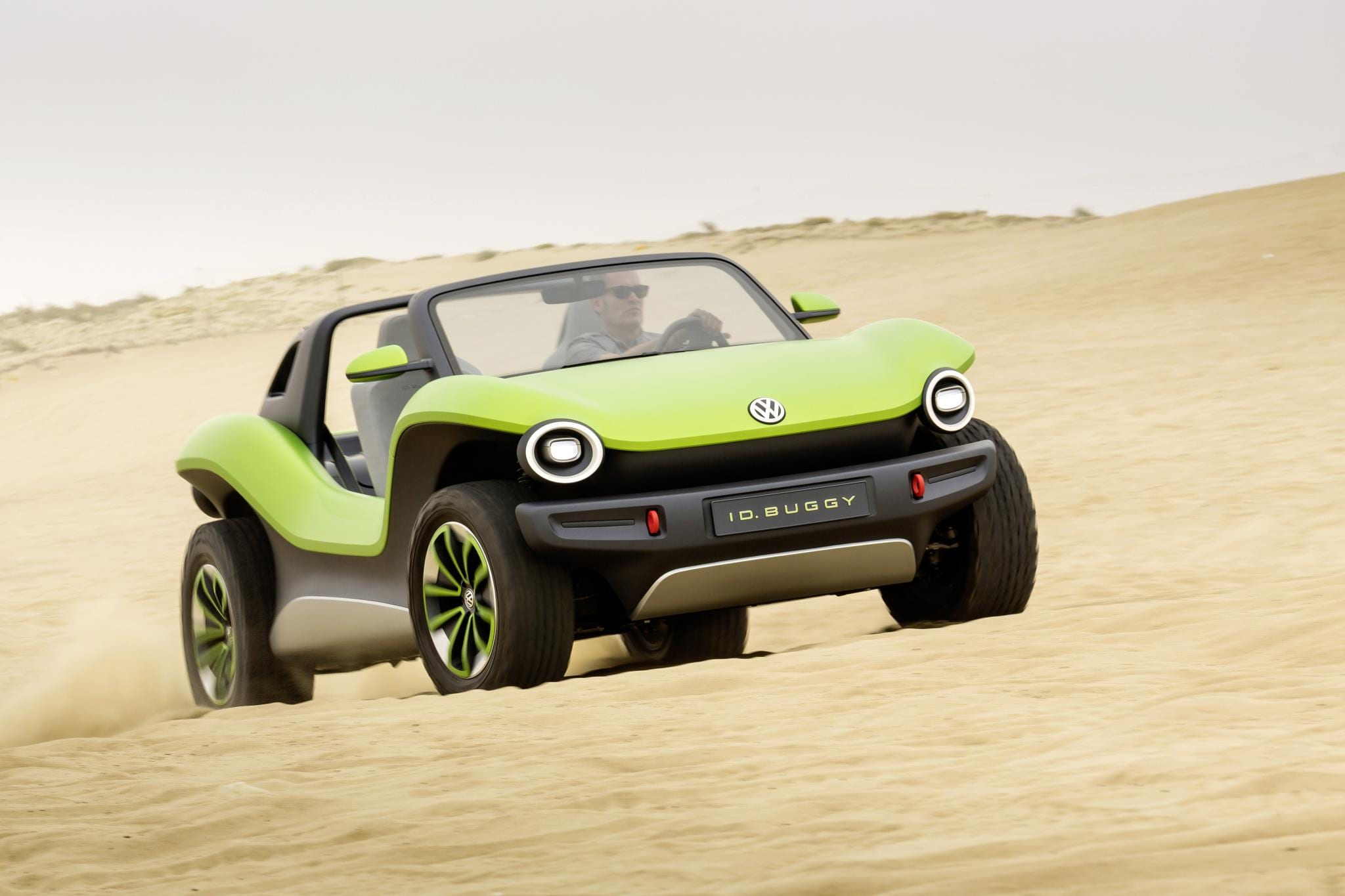 Volkswagen ID. BUGGY driving on a beach