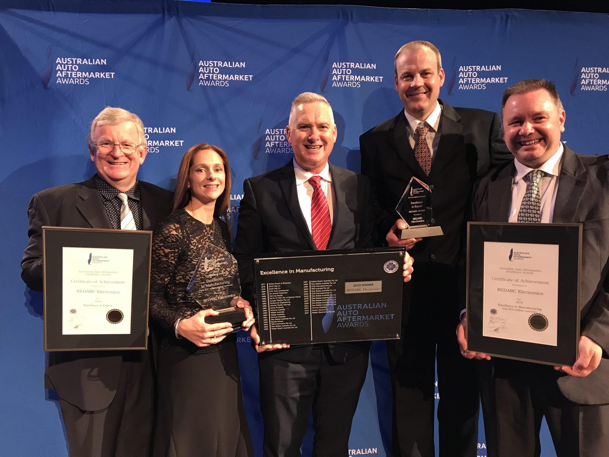 REDARC win multiple awards at AAAA