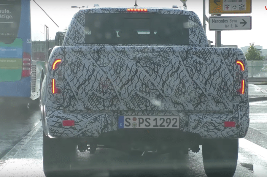 Mercedes X-Class spied driving in Europe, before the 2018 Australian launch.