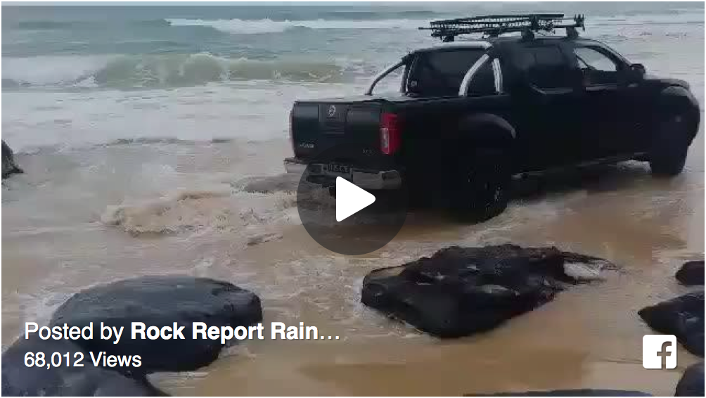 4X4 Video: What not to do at high tide.