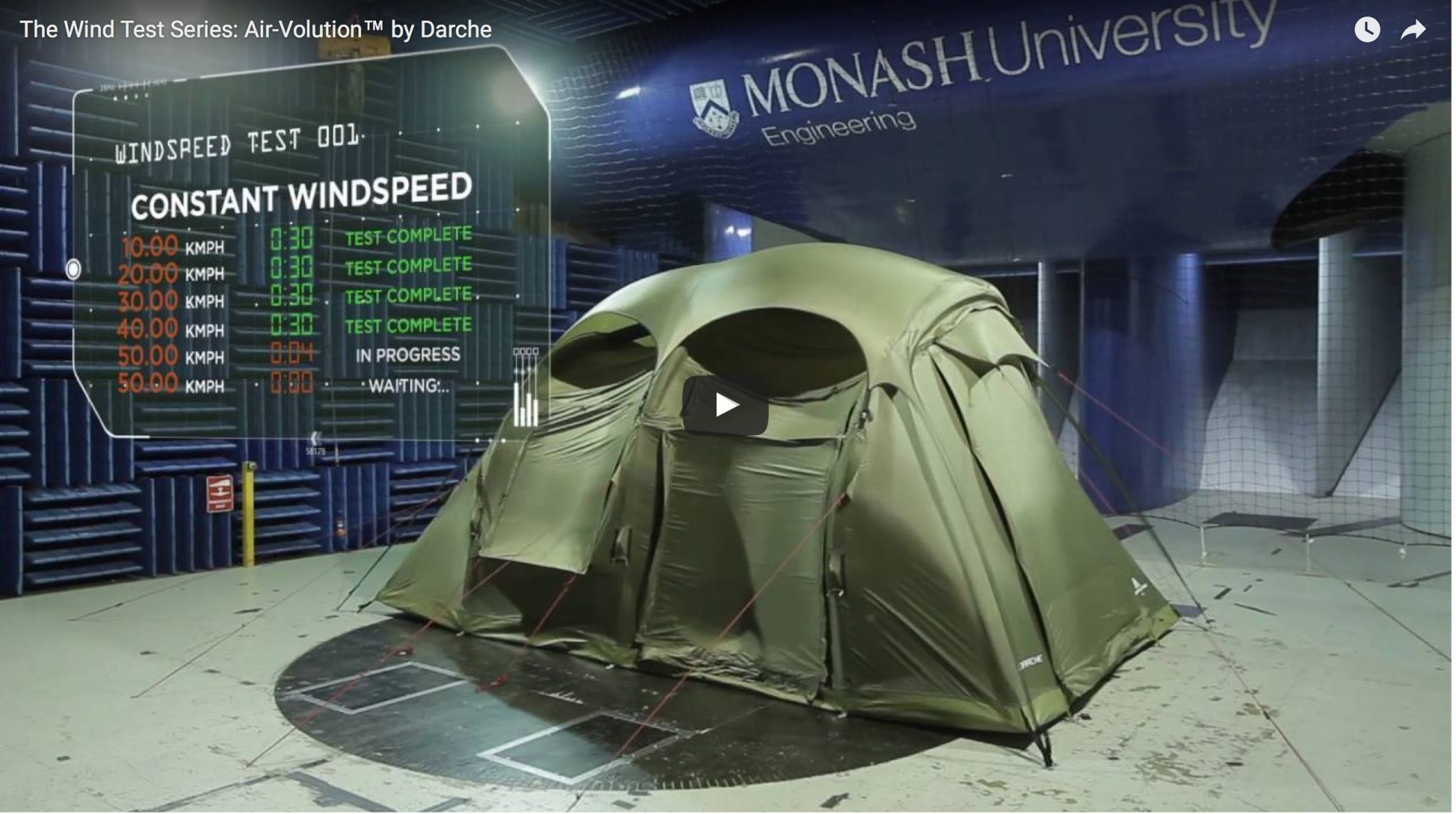 Watch this tent get hammered by gale-force winds.