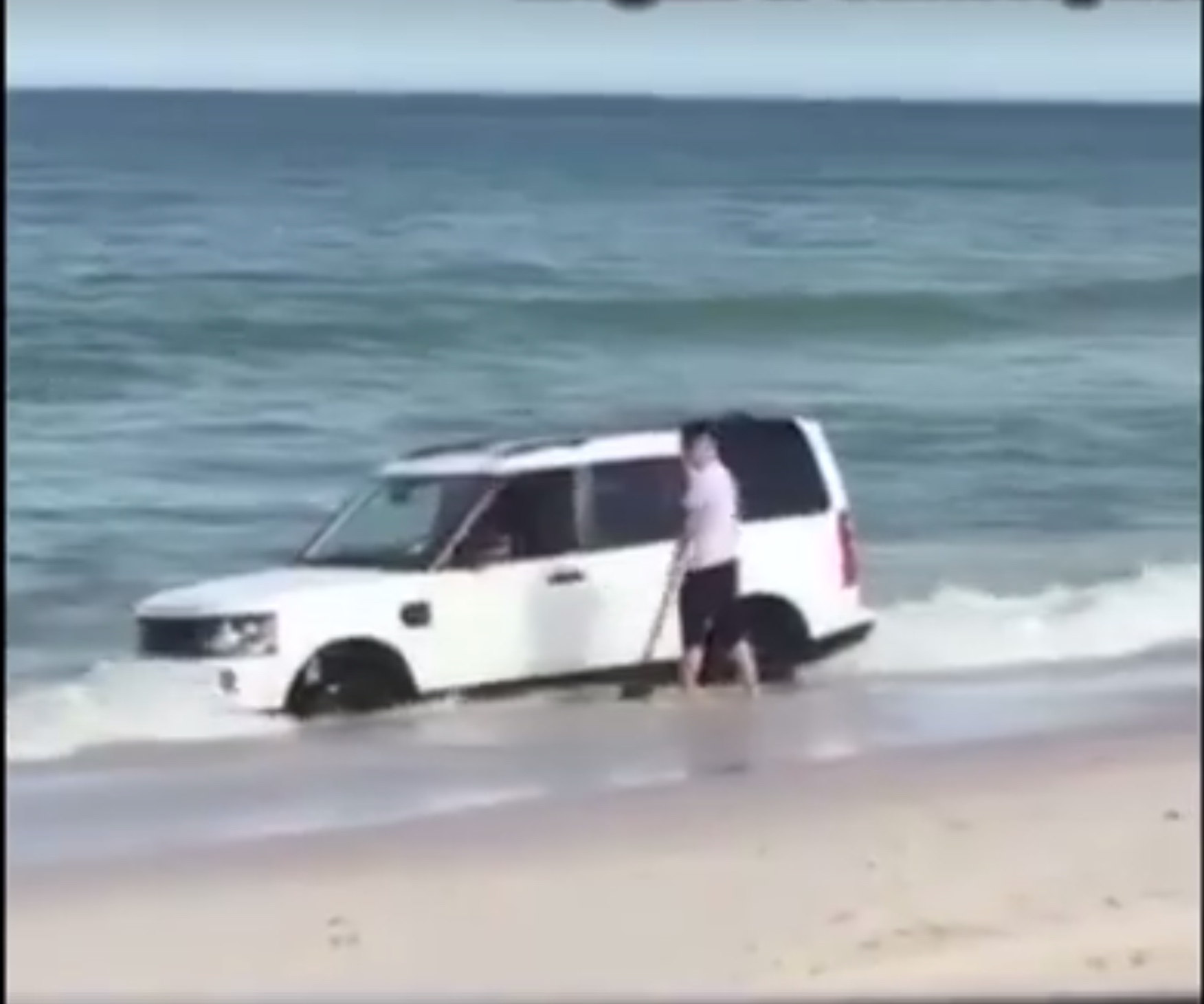 Watch a Discovery 4 get (almost) taken by the ocean
