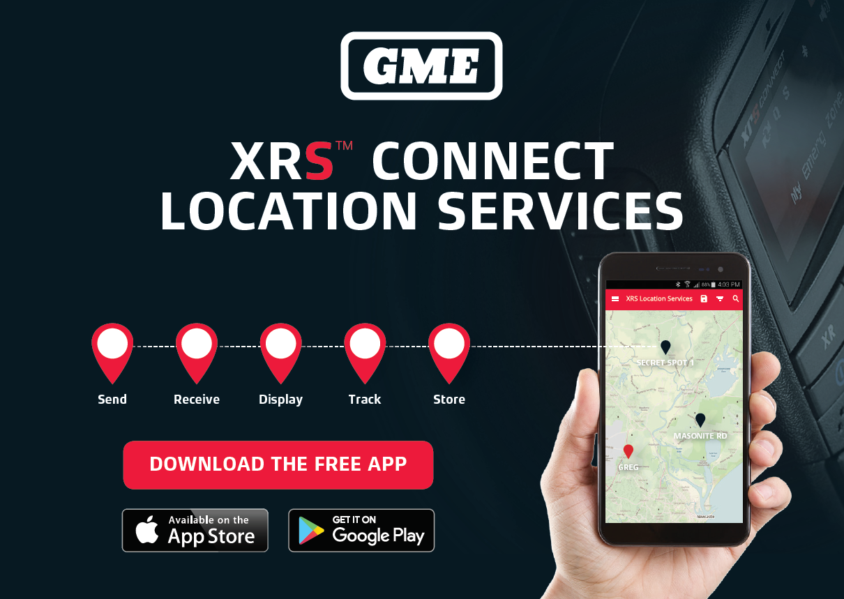 GME XRS Connect app allows sending of gps location