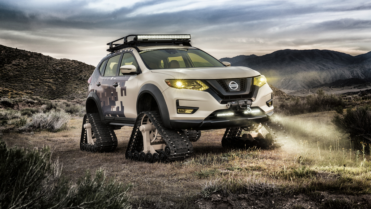 IT'S AN X-TRAIL… WITH TRACKS?!