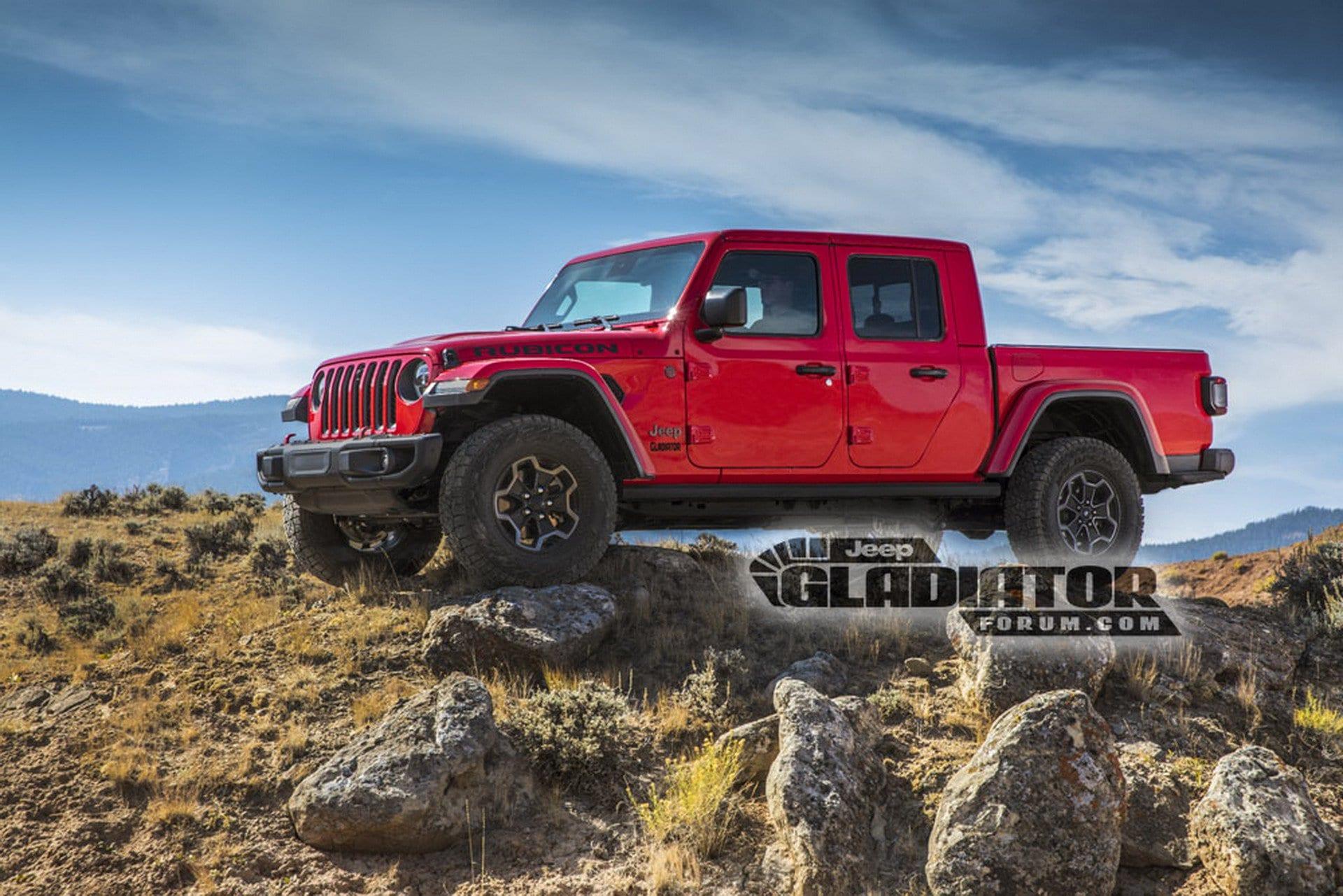 Jeep Gladiator leaked photos