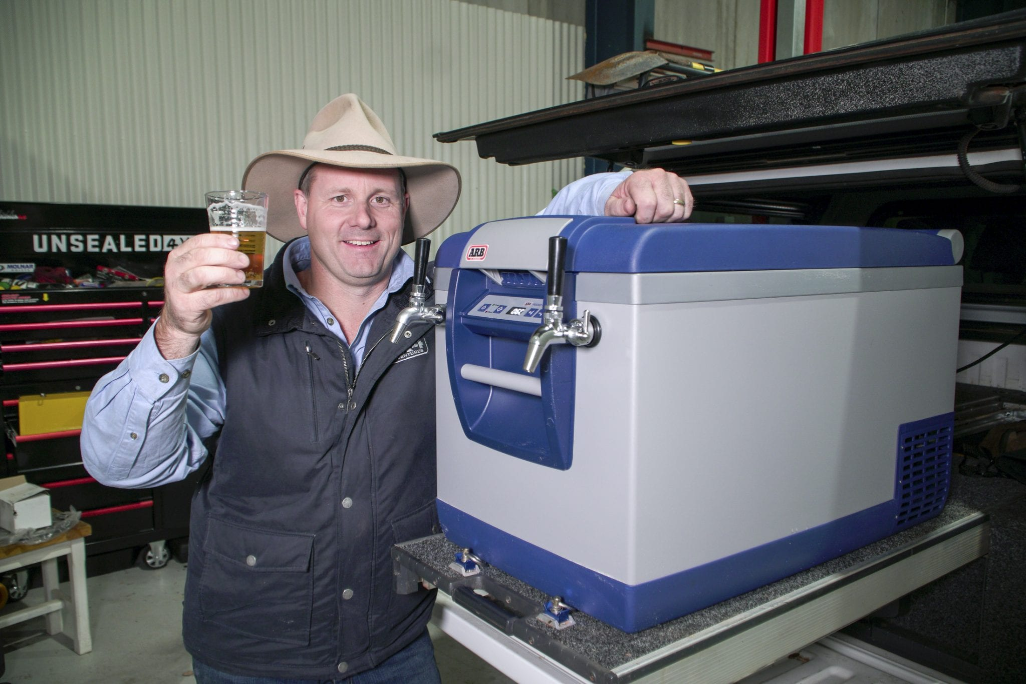 The best 4WD modification ever? Beer on tap!