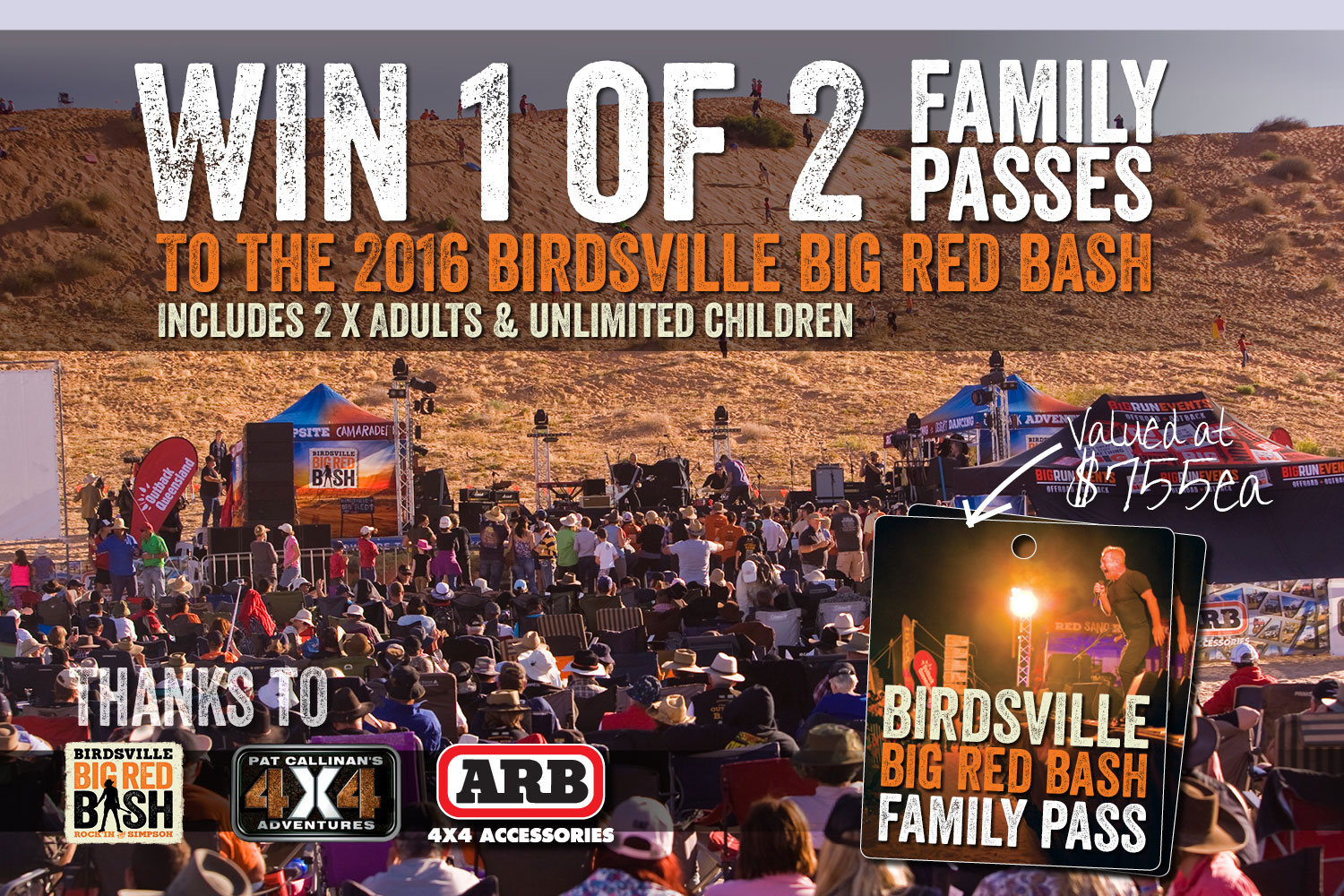 Big Red Bash Family Pass Giveaway
