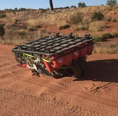 When you overload your roof rack, it might fall off.