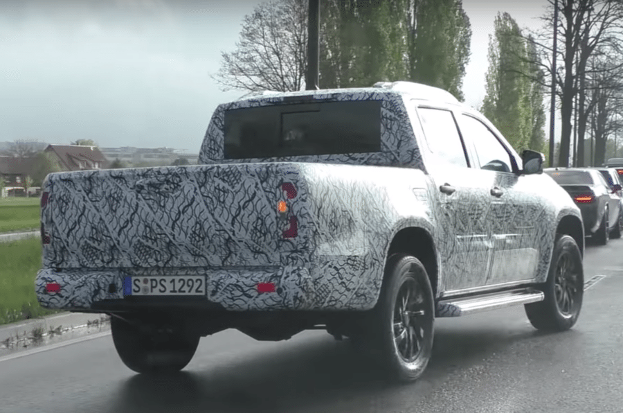 Mercedes X-Class spied driving in Europe.
